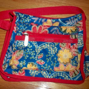 Le Sport Sac Small Shoulder Bag Blue/Red Paisley Print