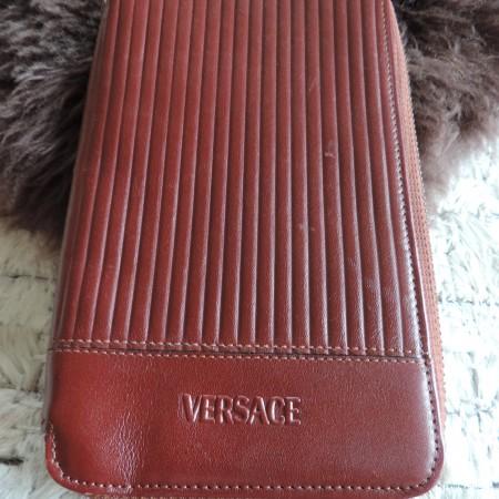 Versace Men's Brown Leather Wallet — NEW