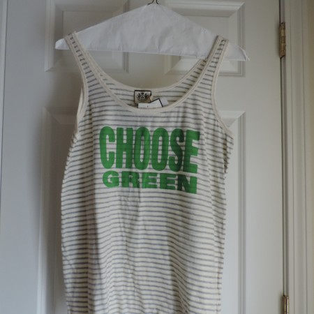 "Juicy Couture ""Organic""  Choose Green Tank Size XL NWT"