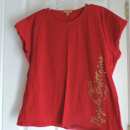 Apple Bottoms Red Short Sleeve T-shirt Size 2X
