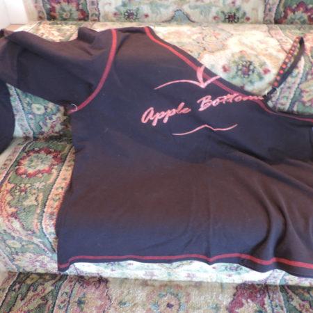 Apple Bottoms One L/s & 1 Rhinestone Strap Black Shirt  Size 2X NEW