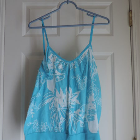 Turq./White Floral Camisole Size XL NEW