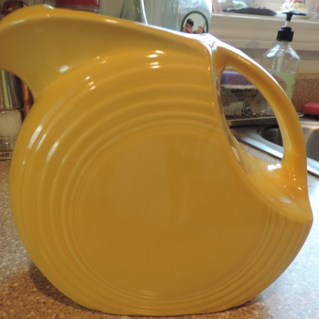 Fiesta Ware Pitcher – Yellow — Made In USA