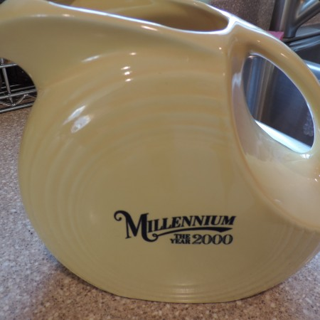 Fiesta Ware Pitcher – Millennium Edition — Yellow — Made In USA  NEW