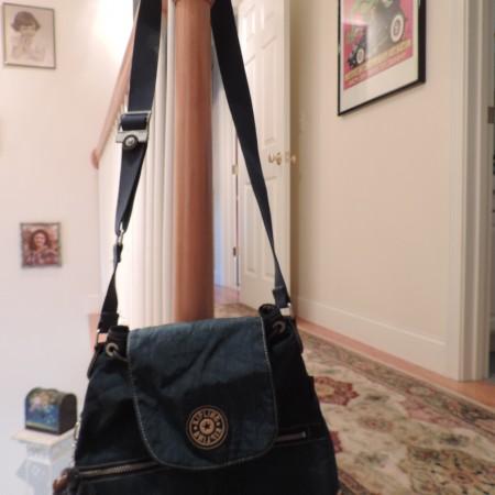 Kipling Teal Drawstring Medium Size Cross Body Bag