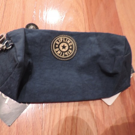 Kipling Teal Small Zippered Pouch NEW