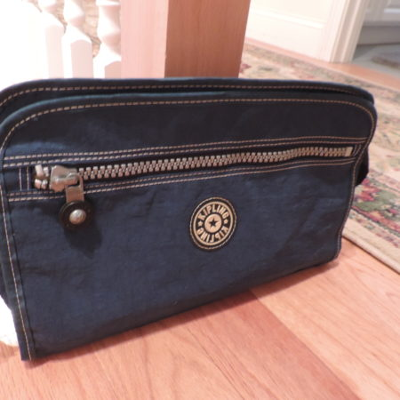 Kipling Teal Large Zippered Pouch