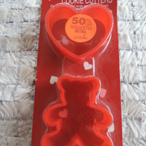 Valentine Cookie Cutters — Heart And Teddy Bear NEW