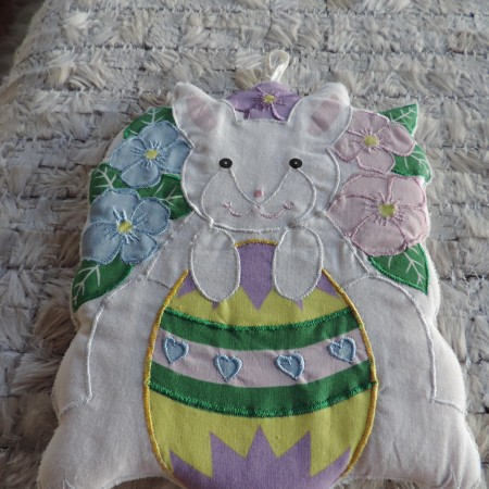 Easter Pot Holder — Bunny W/egg