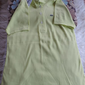 Lacoste Cotton Lime Polo Shirt NWT Size 46/14