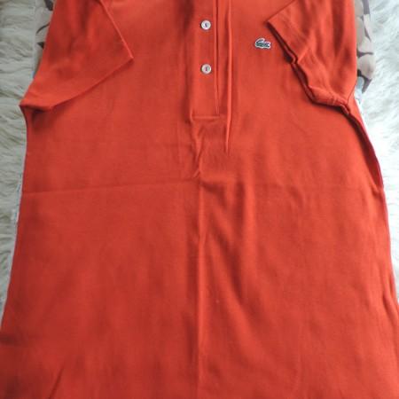 Lacoste Rusty Orange Polo Shirt Size 46/14