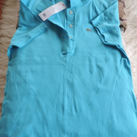 Lacoste Turquoise Polo Shirt NWT Size 46/14