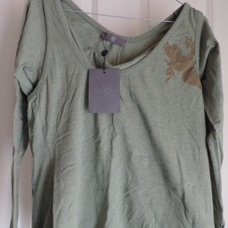 Alexander McQueen Green/floral Double Layer T-shirt NWT Size XL