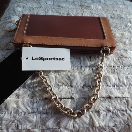 """Le Sport Sac REMIX  Leather & Nylon """"Bass Chain Wallet  Tahiti Color NEW"""
