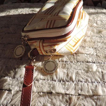 Le Sport Sac REMIX  Leather & Nylon  Yellow/White Print  2 – Zipper Clutch
