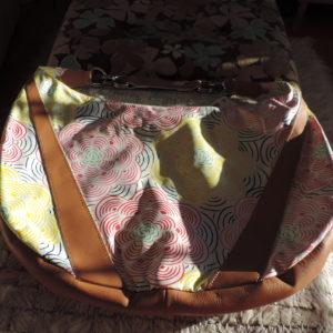 "Le Sport Sac REMIX  Leather & Nylon ""Large Studio"" Floral Pattern On Bag NEW"