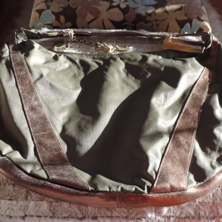 "Le Sport Sac REMIX  Leather & Nylon ""Large Studio"" Iguana Color Bag NEW"