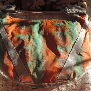 "Le Sport Sac REMIX  Leather & Nylon ""Large Studio""Python Pattern On Bag NEW"
