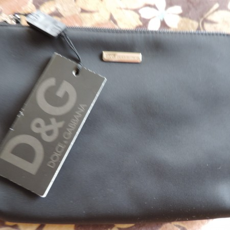 Dolce & Gabbana D&G Black Envelope Clutch NWT
