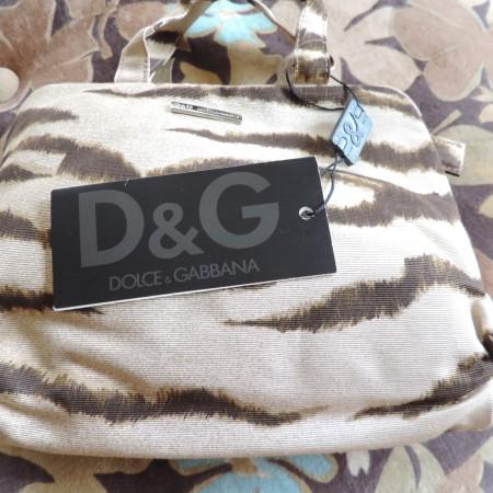 "Dolce & Gabbana  D&G  ""Tiger Stripe Print"" Fabric Bag NWT"
