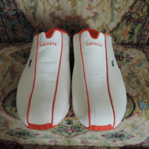 Lacoste Freya 71K Sport Slides White W/orange Trim NEW Size 10