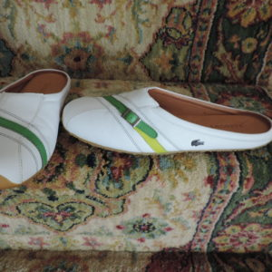 Lacoste Thea Mule White Leather NEW Size 9