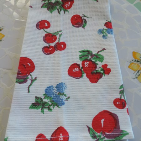 Crate & Barrel Fruity Dish Towel NEW