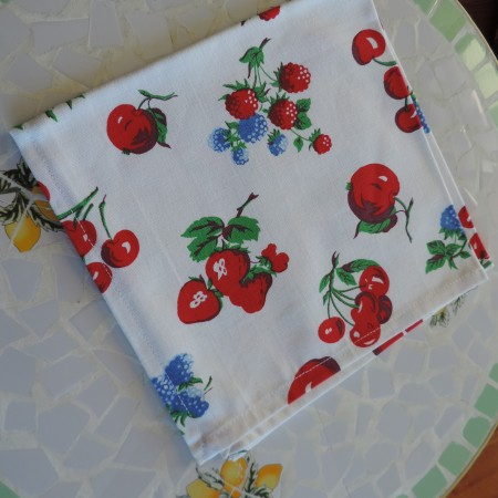 Crate & Barrel Fruity Napkins NEW