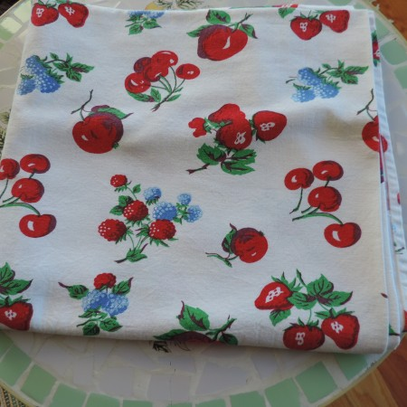 Crate & Barrel Fruity Table Cloth
