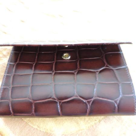 Furla Brown Leather Croc Embossed Wallet NWR