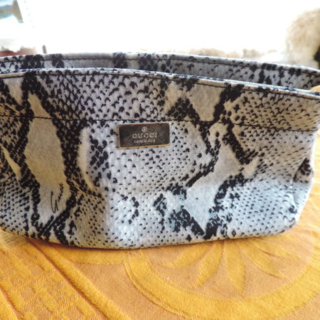 Gucci Light Turquoise/black Snake Print Cosmetic Bag NEW