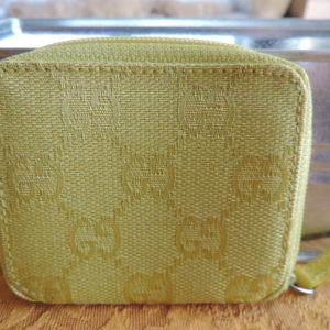 Gucci GG's Lime Green Fabric Coin Purse NEW