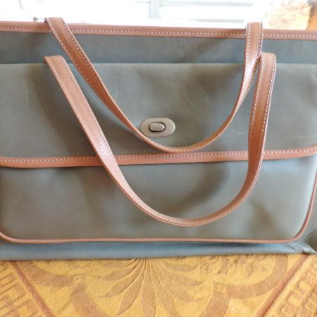Marni Handbag Baby Blue Leather W/ Tan Leather Trim NWT/ID Card