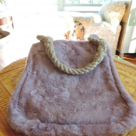 Marni Handbag/tote Lavender Horsehair W/rope Handles NWT