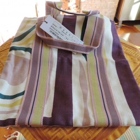 Marni Tote — Purple, Cream, Green Fabric NWT