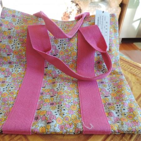Marni Tote — Hot Pink, Yellow Floral Fabric NW Hang Tag