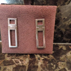 Gucci Earrings Sterling Silver Double Square Drops NEW