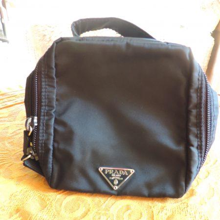 Prada Small Cosmetic Bag Bleu (cosemi) NW/ID Card