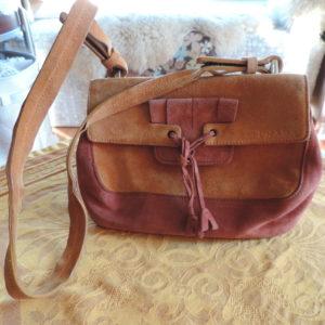 Prada Rust & Orange Suede Should Bag W/ID Card