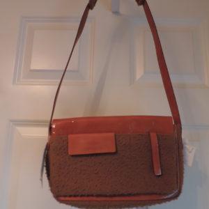 Miu Miu Handbag Boiled Wool & Patent Leather NWT/ID Card